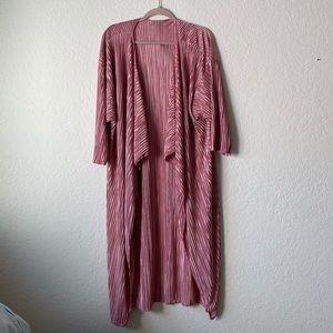 Lularoe Dusty Rose Shirley Accordion Kimono